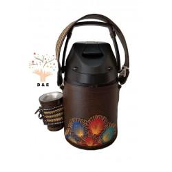 Termo Inox 2.5 litros forrado en cuero