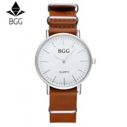 Reloj BGG malla cuero marrón